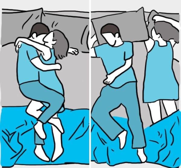 Couple : votre façon de dormir révèle tout sur votre relation!