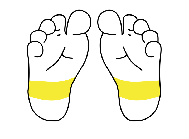 7 régions du pied à masser pour calmer bébé