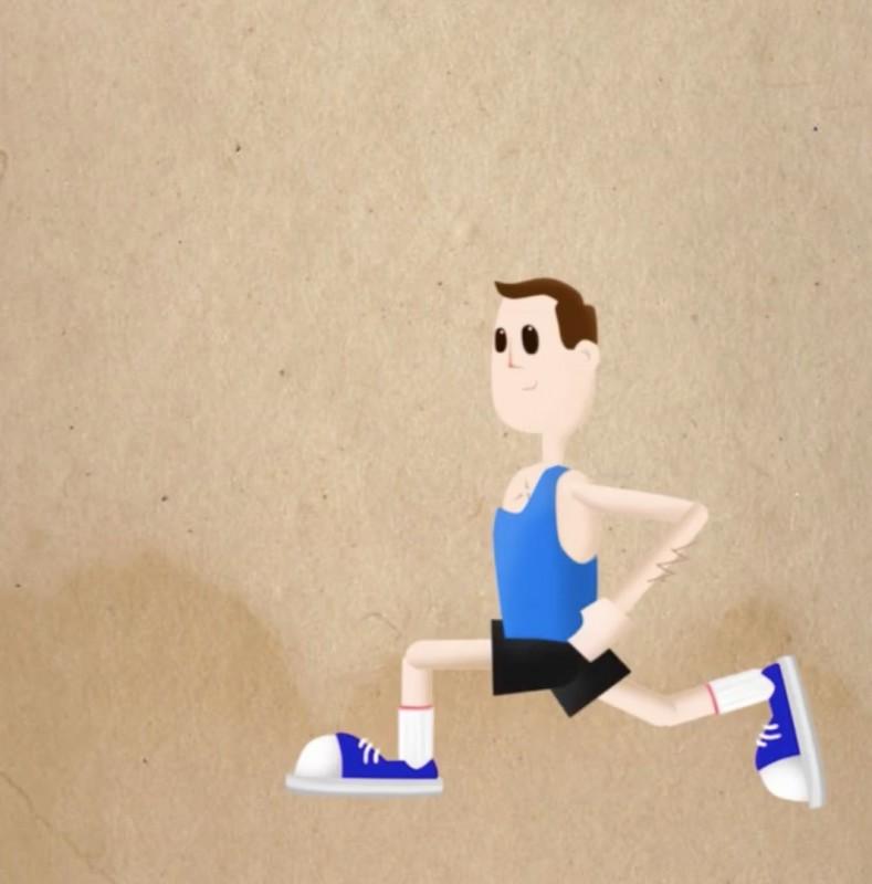 exercice de sport : les fentes en avant