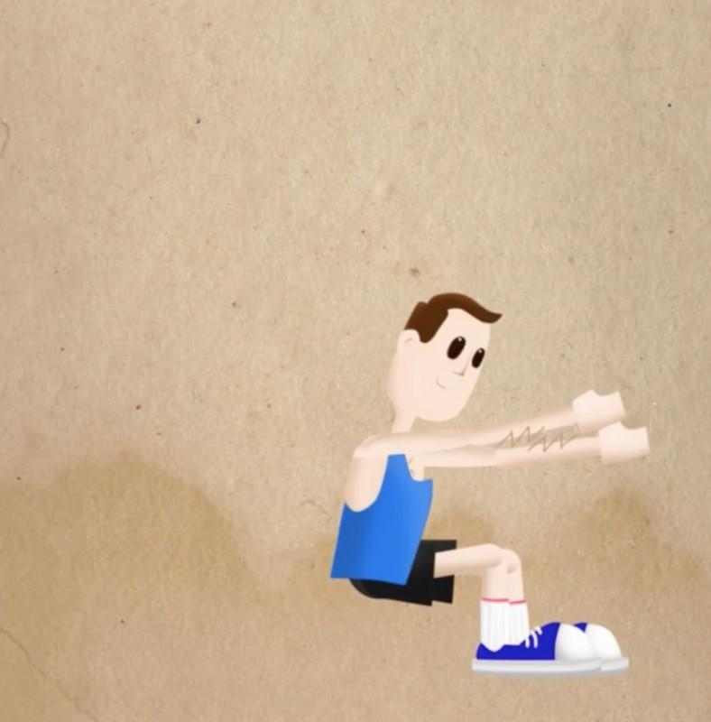 exercice de sport : les flexions ou squats