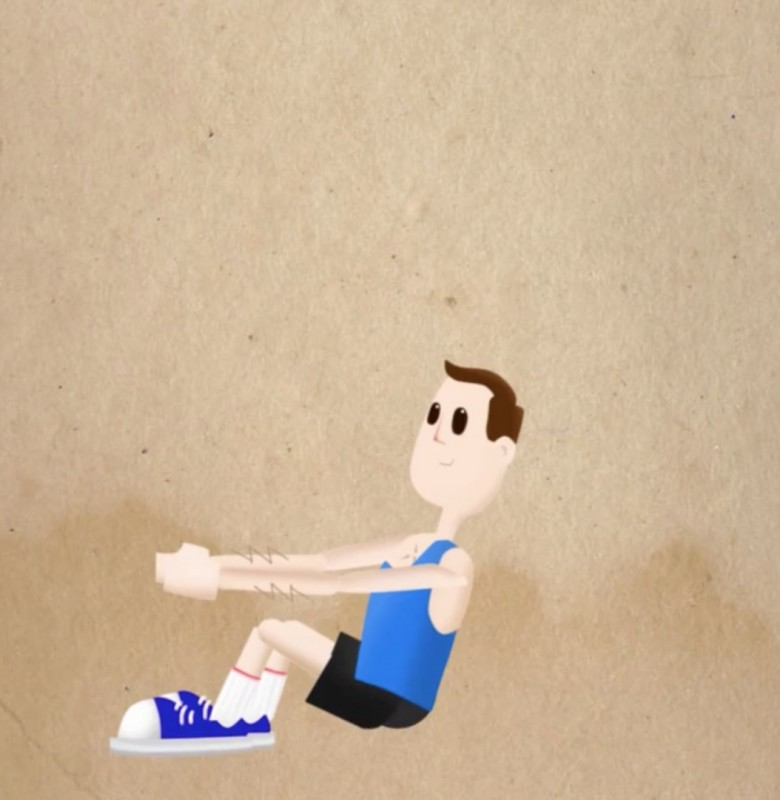 exercice de sport pour les abdominaux : le crunch