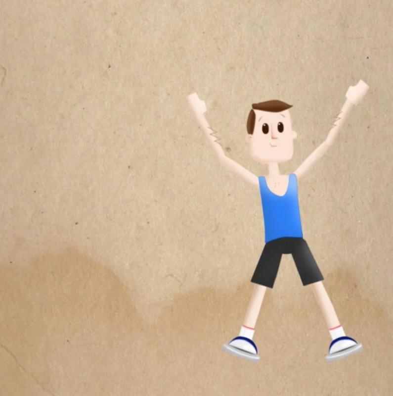 exercice de sport appelé le pantin