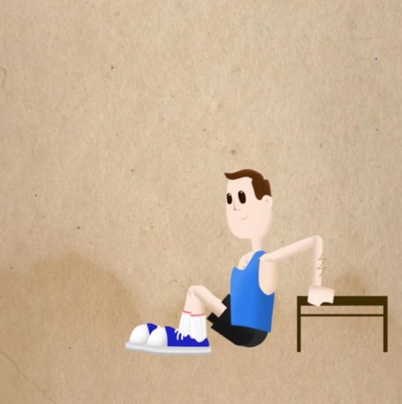 exercice de sport : les dips
