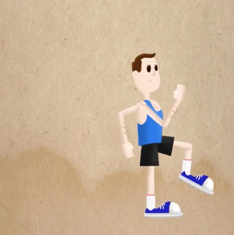 exercice de sport : lever de genoux ou genoux poitrine