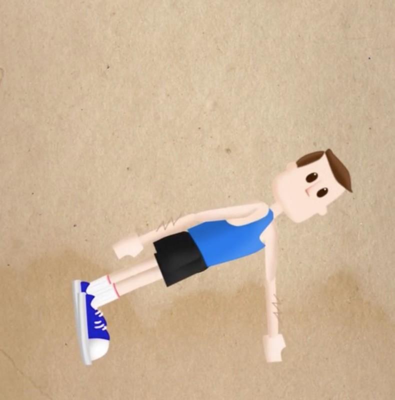 exercice de sport : le gainage sur un bras