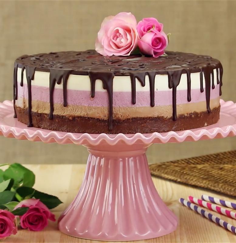 cheesecake fraise nutella terminé
