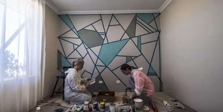 Peinture Décorative Le Mur Au Design Puzzle