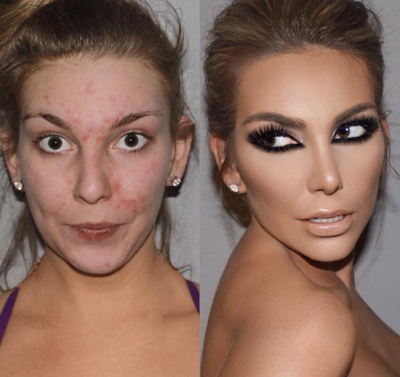 16 photos de femmes avantapr232s le maquillage