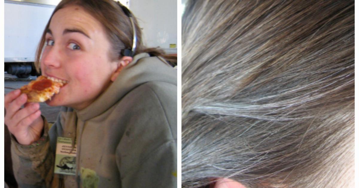 Cheveux gris et stress