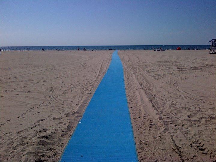tapis sur la plage