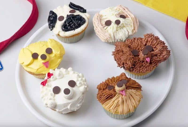 6 cupcakes en formes de chiens
