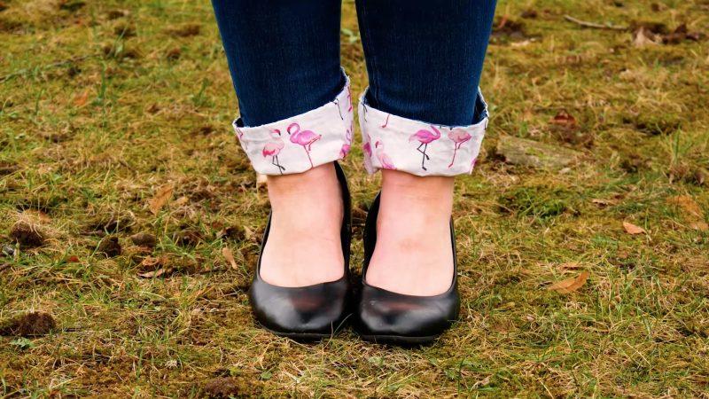 ourlets avec des motifs flamants roses