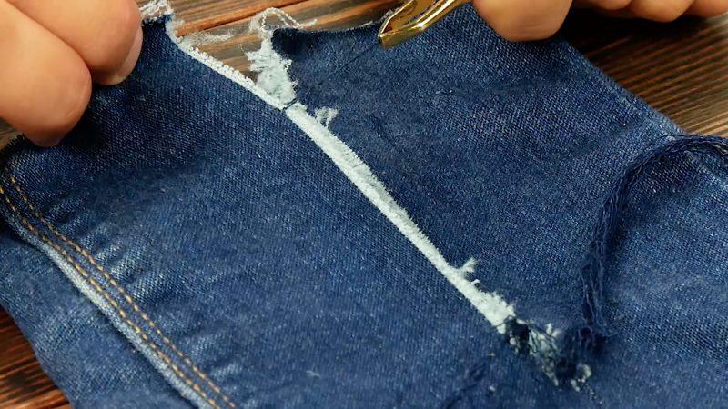 faire une entaille dans le jean