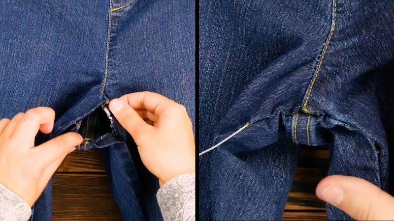 recoudre un trou dans un jean