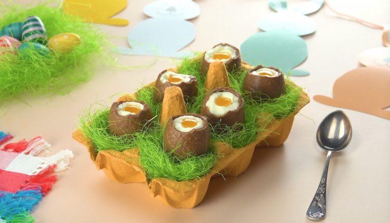 6 œufs terminés dans une boite