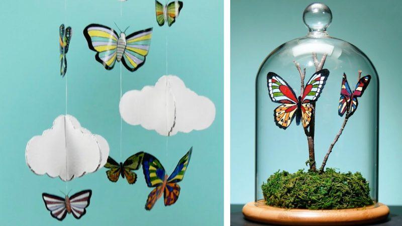 papillons en plastique