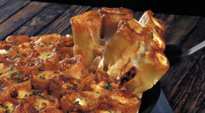 roulés de lasagnes façon bolognaise