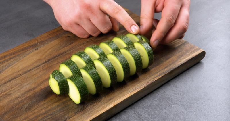 courgette coupée en tranches