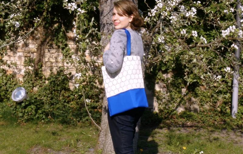 sac avec motifs de tampon artisanal