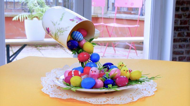 décoration flottante de Pâques terminée