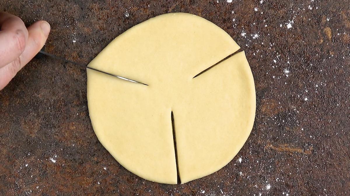 entailler la pâte