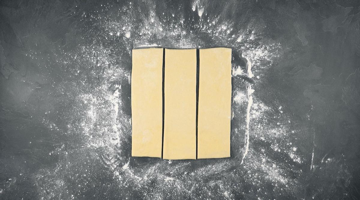 diviser la pâte en 3