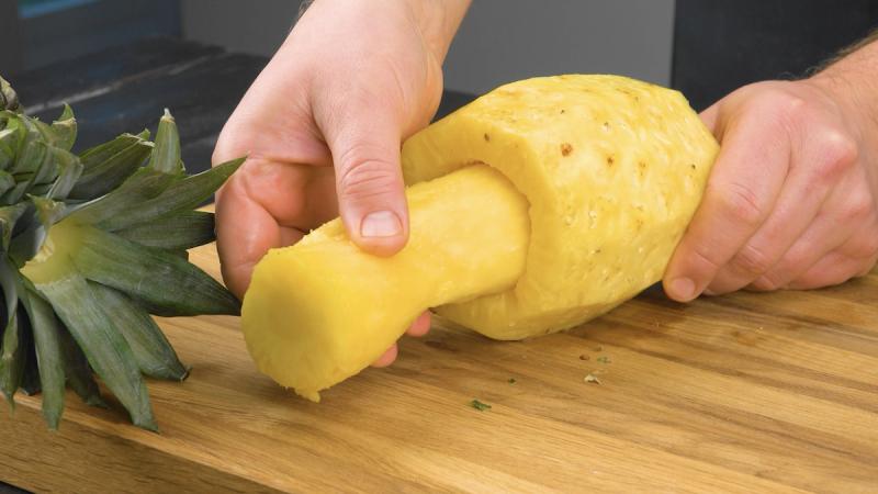 évider l'ananas