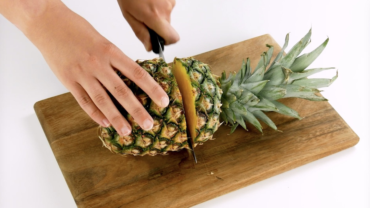 couper l'ananas
