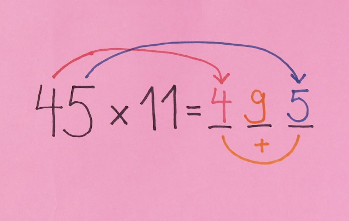 astuce pour multiplier facilement par 11