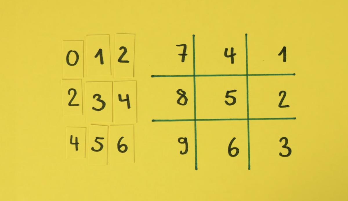 grille pour multiplier par 7
