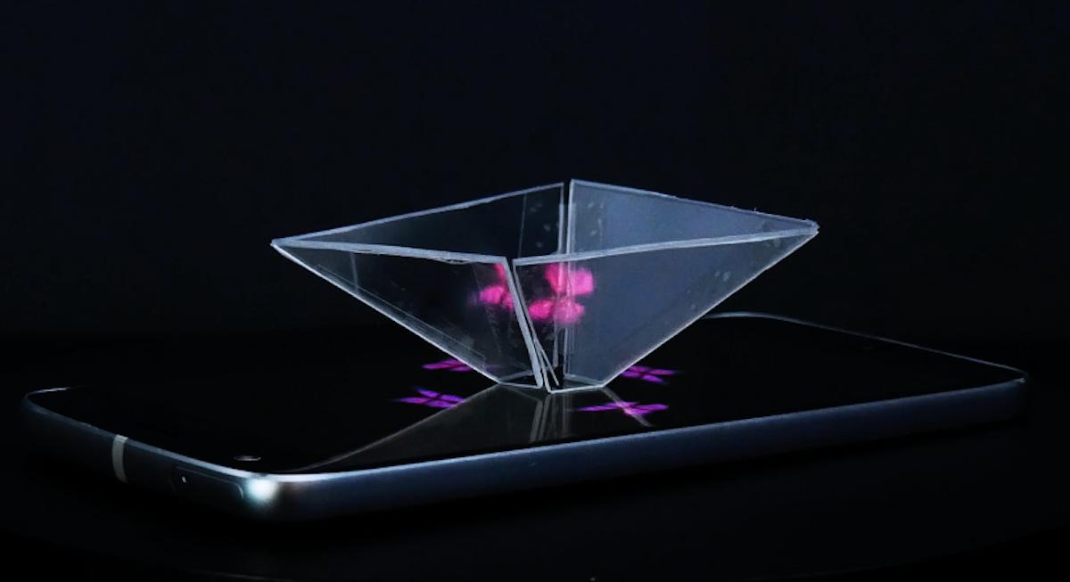 hologramme avec un smartphone