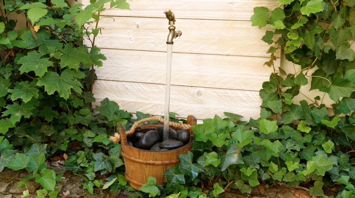 fontaine flottante faite maison