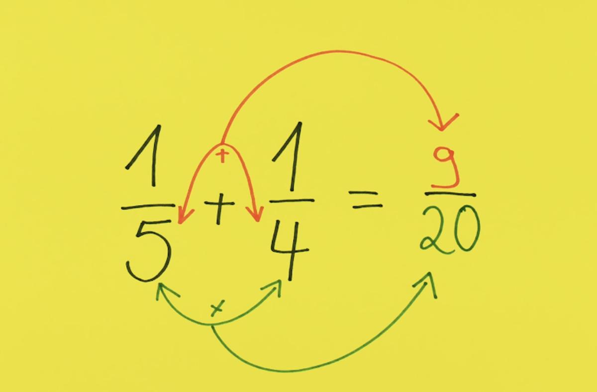 astuce pour additionner facilement des fractions