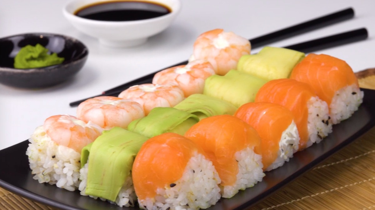 3 types de sushis