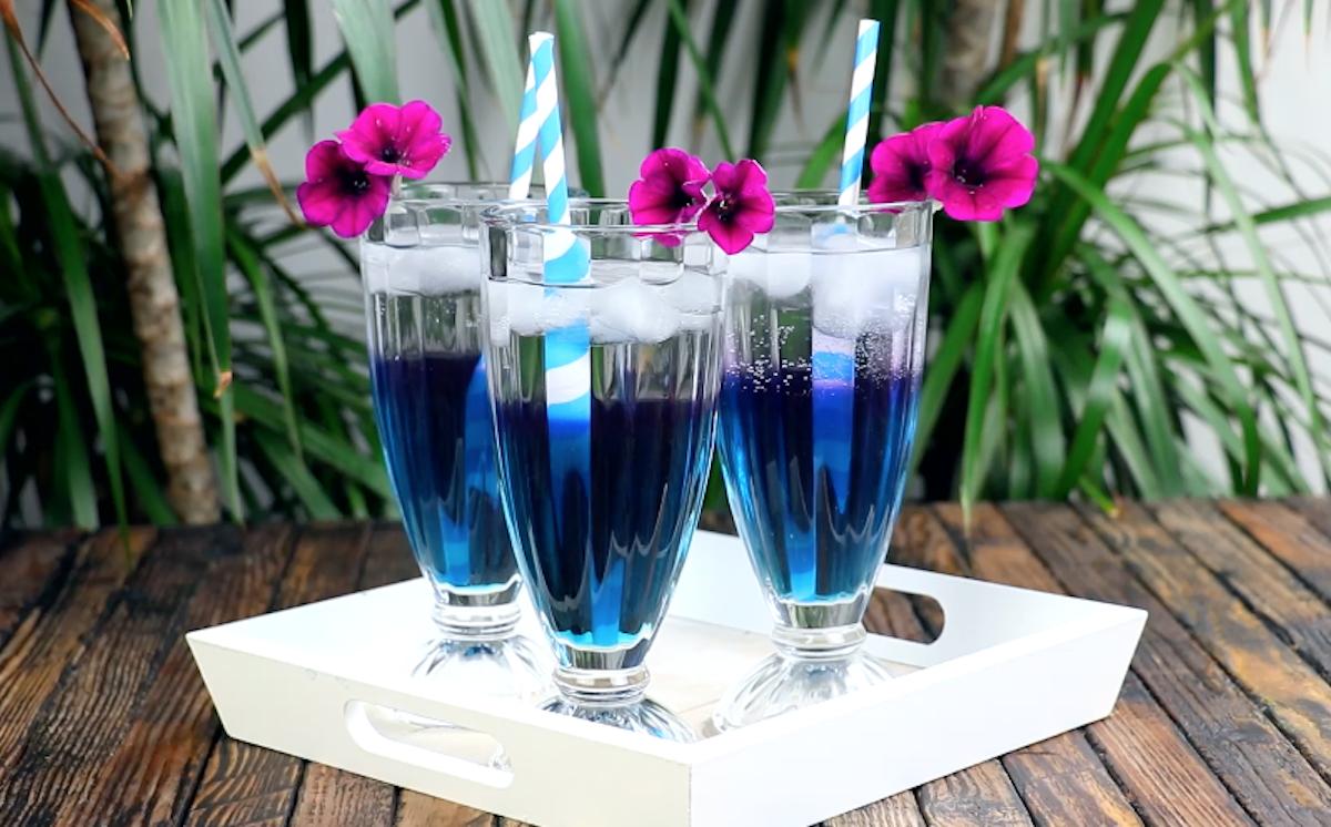 thé glacé qui change de couleur