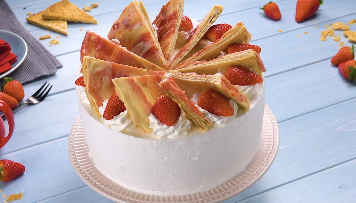 Gâteau glacé fraise chocolat