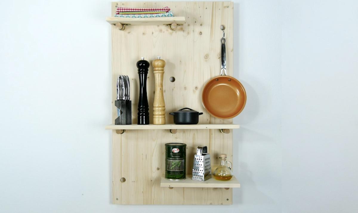 étagère murale en bois