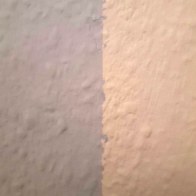 ligne de peinture pas droite