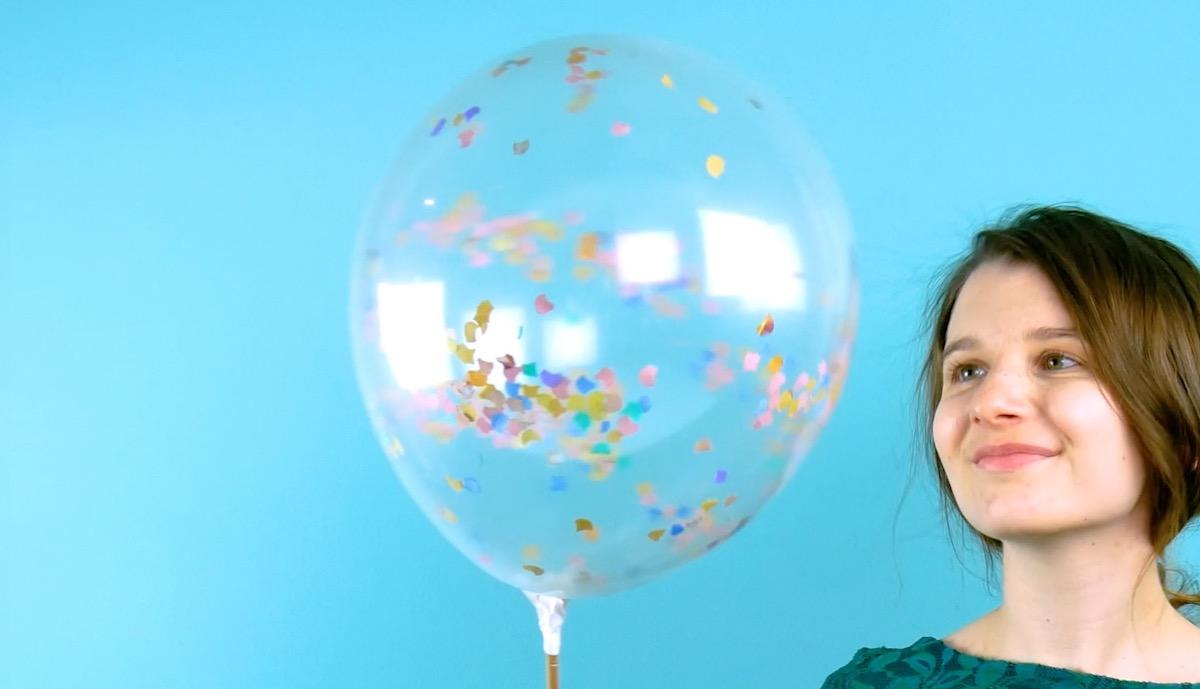 confetti in a balloon