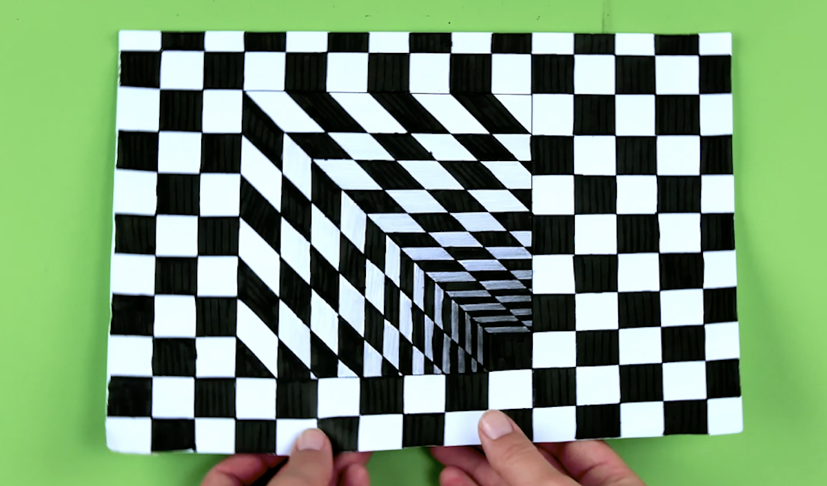 illusion d'optique en 3d