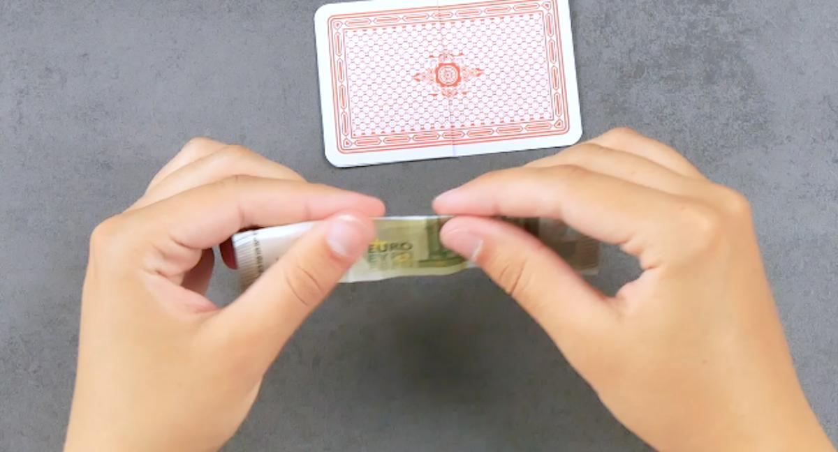 fold a bill in half