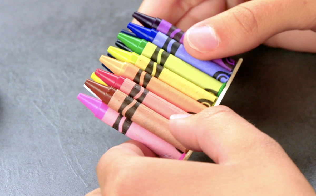 glue the pencils on a piece of cardboard