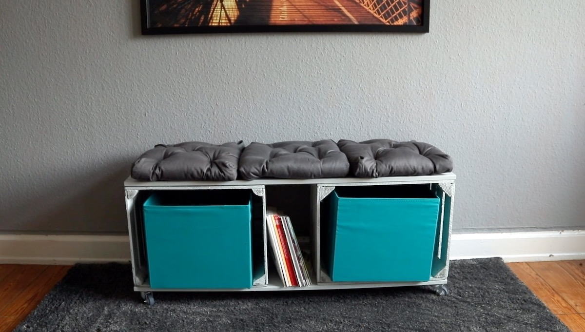 shoe bench on casters