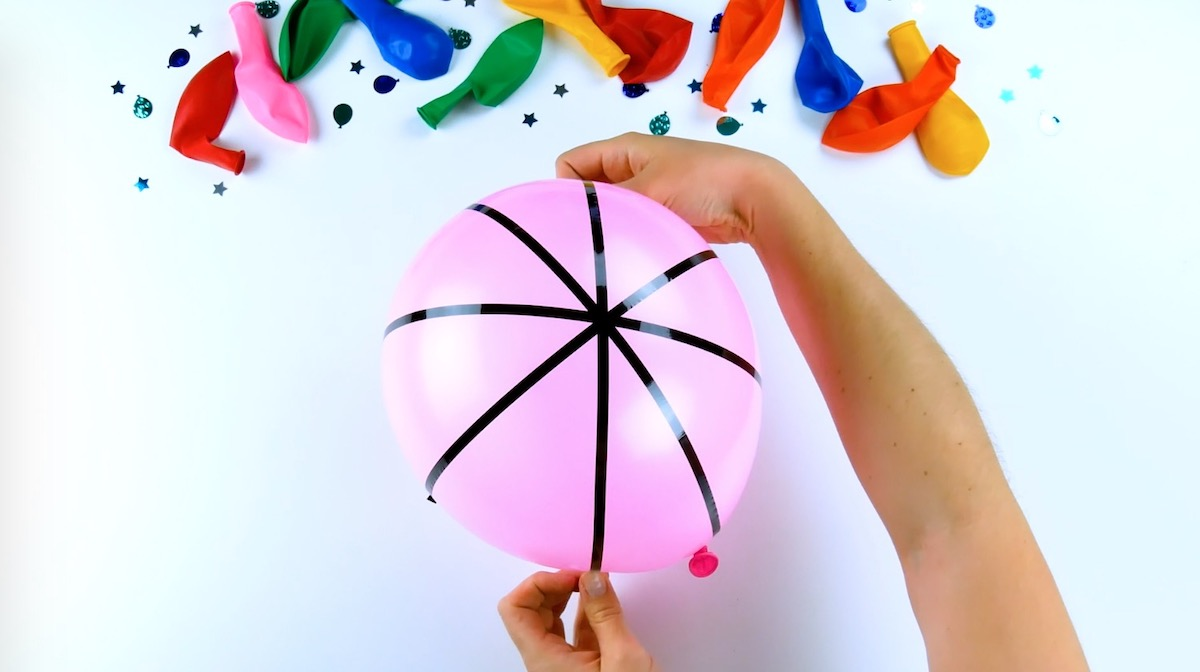 cover the balloon with duct tape