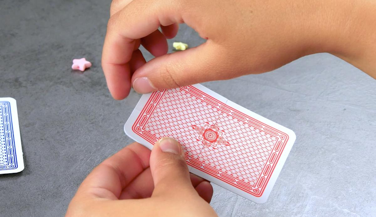cut a card in half