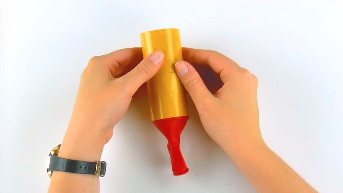 cover the roll with adhesive tape