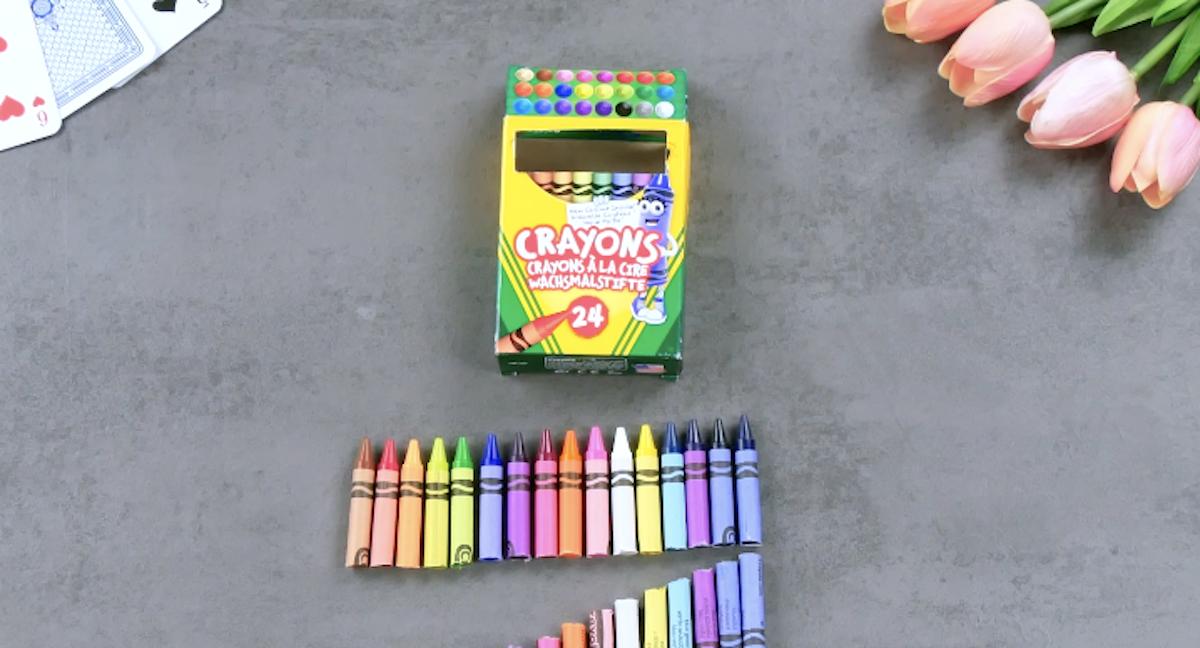 cut the crayons in half