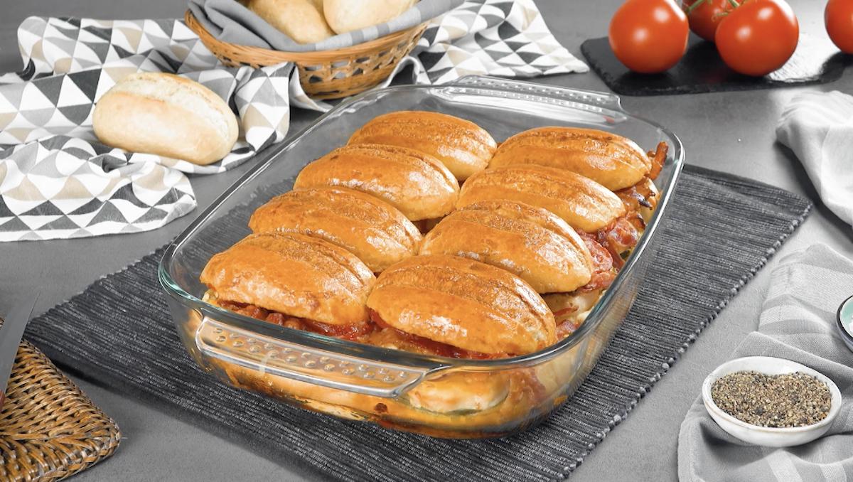 gratin de petits pains garnis