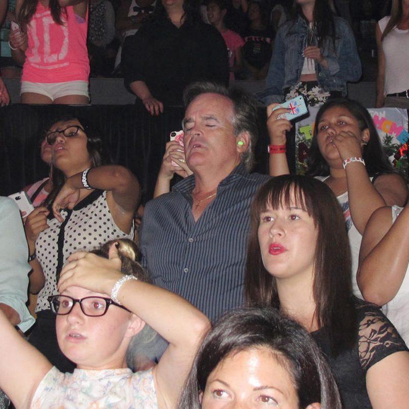 papa dans un concert