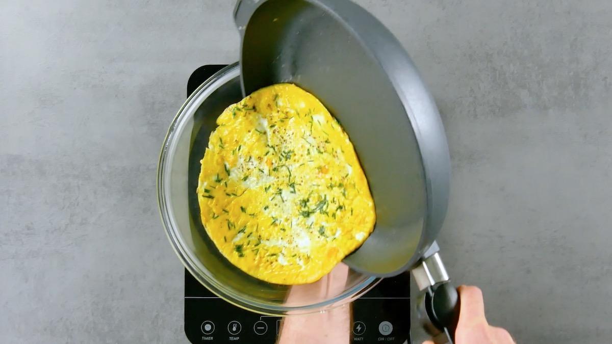 flip an omelet